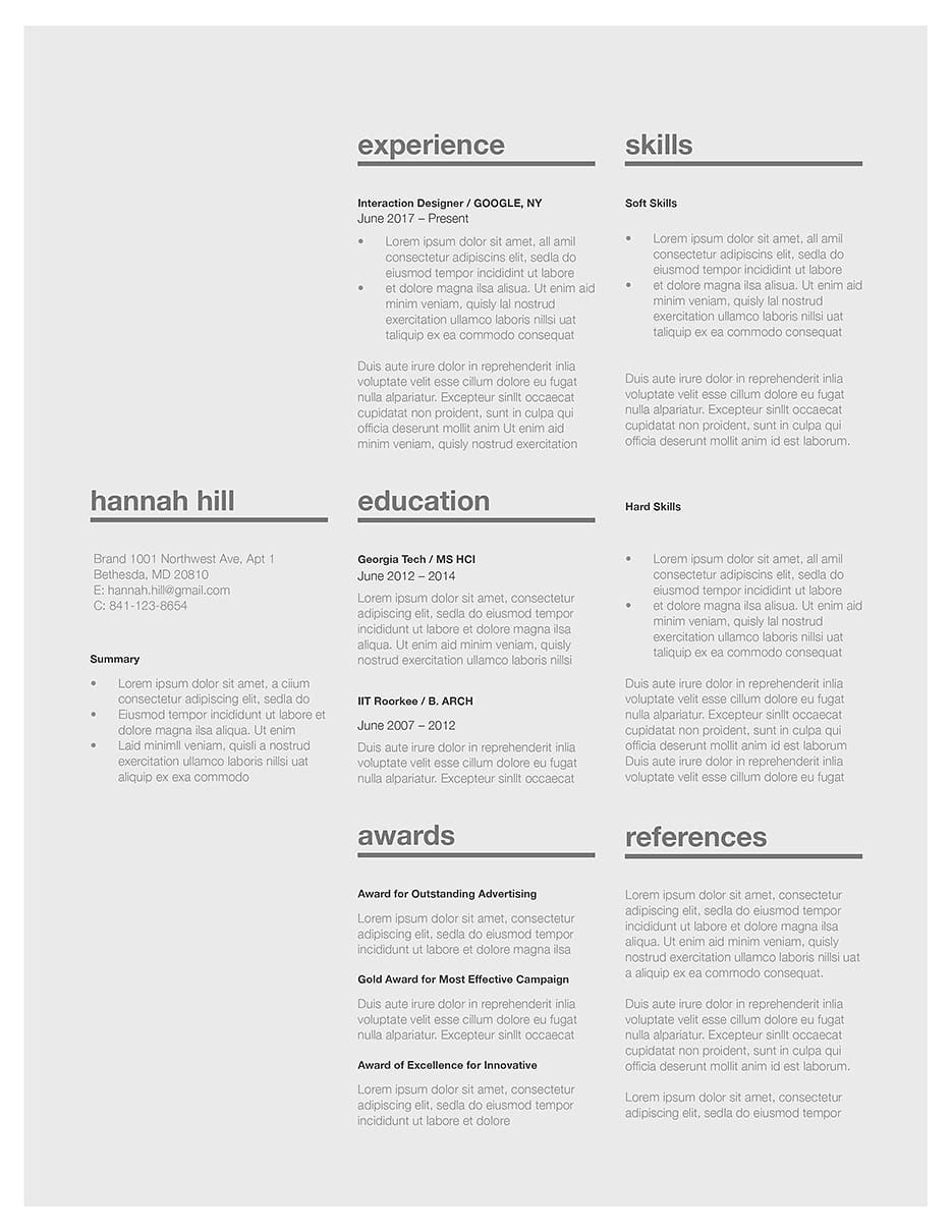 Classic Resume Template 120370 Choose From Over 40 Templates In Microsoft Word And IWork Pages Fast Easy To Use