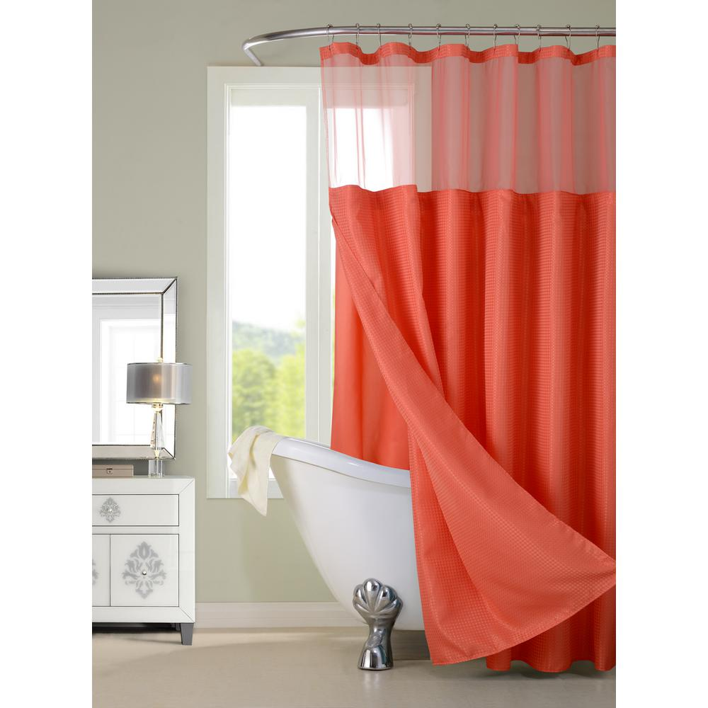 Dainty home complete in coral shower curtain products