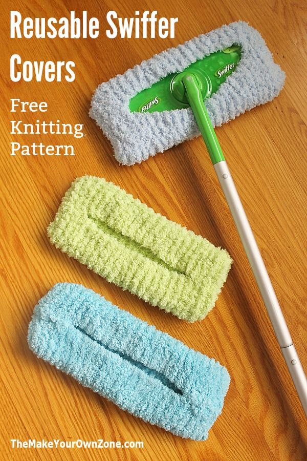 Knitting Pattern for Reusable Swiffer Cover - The Make Your Own Zone