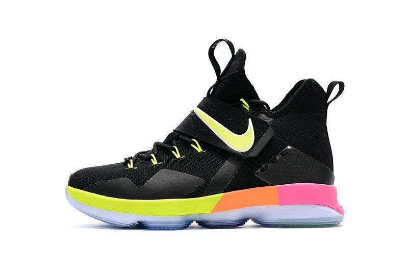 7472299bee84 New Basketball Shoes 2017 Big Boys LeBron 14 XIV Black Multi Color Gold For  Girls Basketball Shoes