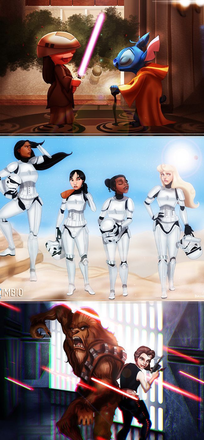 An Artist Combined Disney Characters and Star Wars to Create an Amazing Mashup