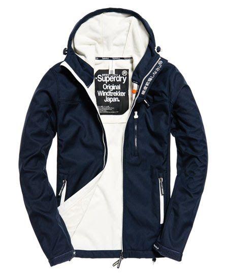 Mens Superdry Hooded Winter Sd-Windtrekker Jacket Dark Navy Marl