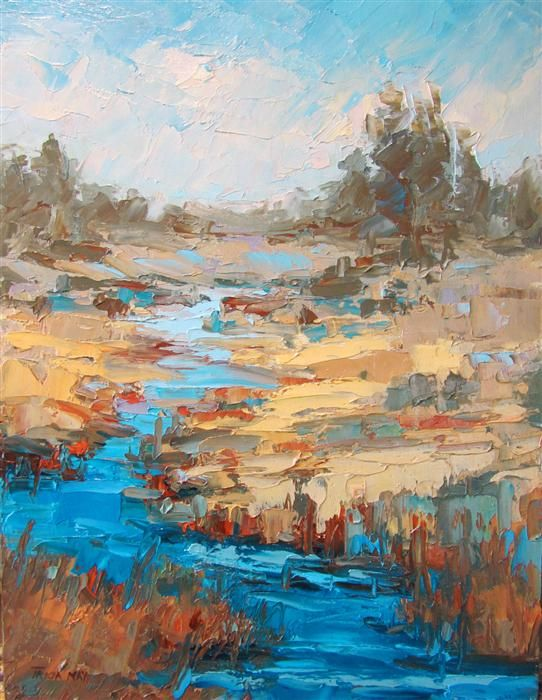 Original art for sale at UGallery.com | Idaho Landscape by Tricia May | $375 | oil painting | 12' h x 9' w | http://www.ugallery.com/oil-painting-idaho-landscape