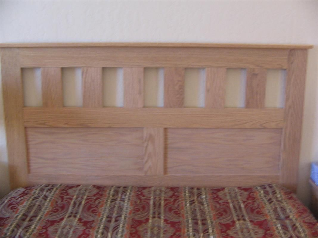 Build your own Craftsmanstyle, queensize headboard