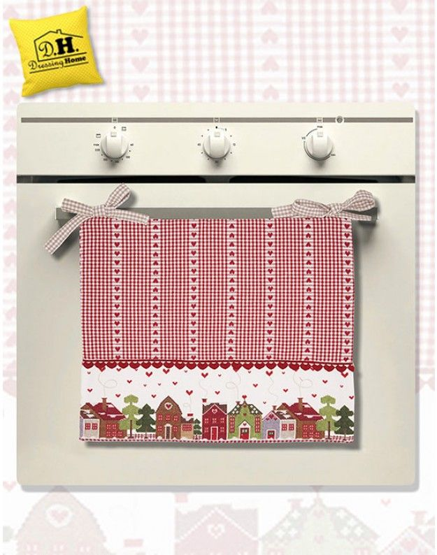 Copriforno country chic casette e cuori angelica home for Angelica home country