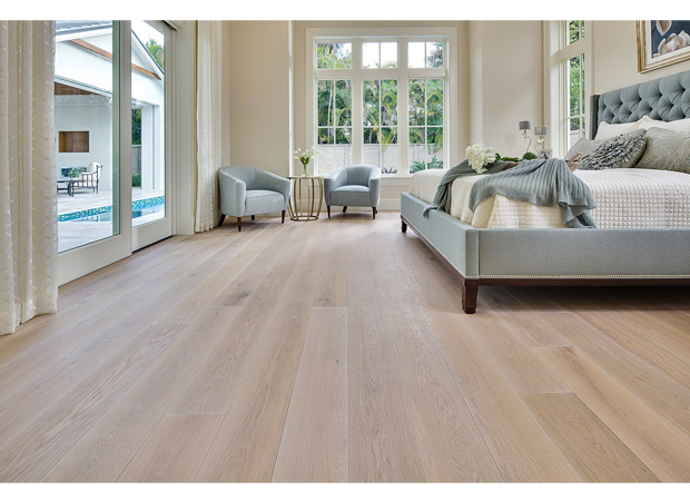 french white oak light brushed, white oiled, with a natural hard