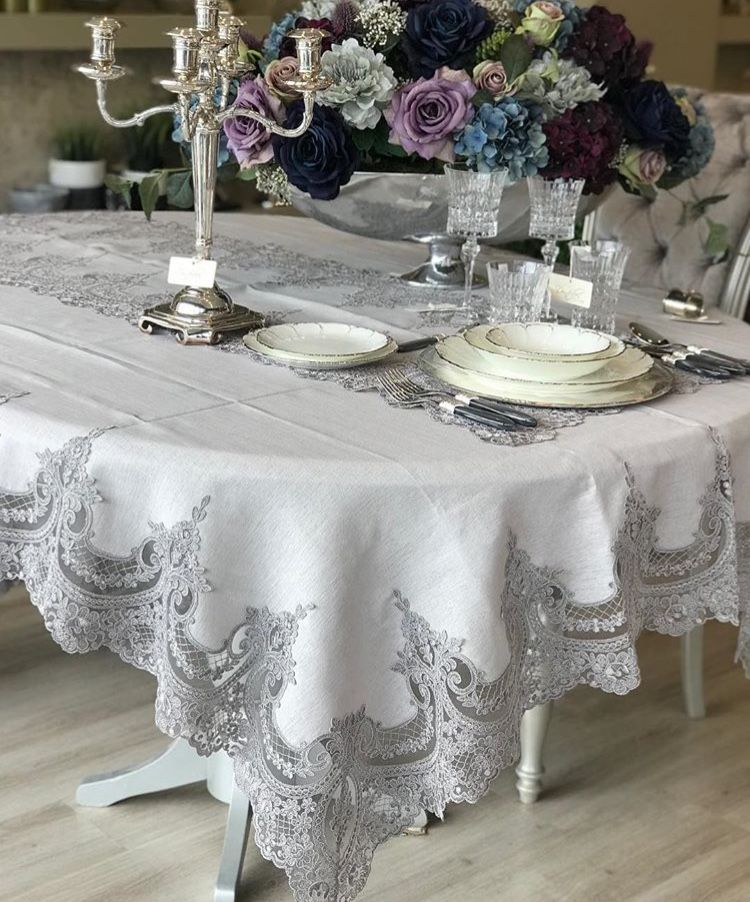 Handmade Tablecloth Silk Shantung Linen Table Cloth Etsy In 2020 Handmade Tablecloth Linen Tablecloth Table Cloth