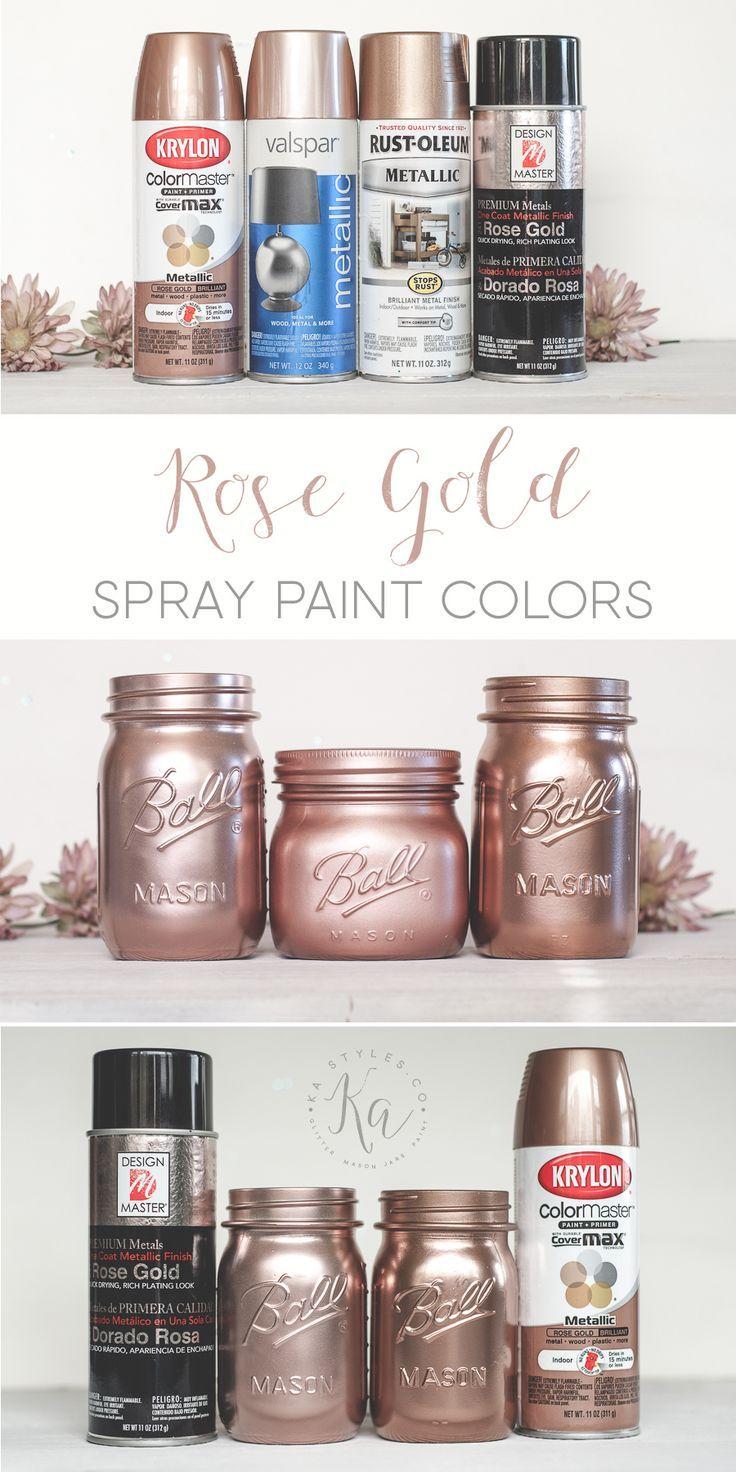 Rose gold spray paint diy crafts and life hacks for Zimmer deko rosegold