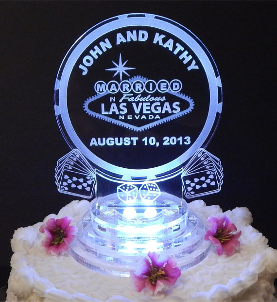 vegas wedding cake toppers uk personalized lit custom wedding cake topper by 21576