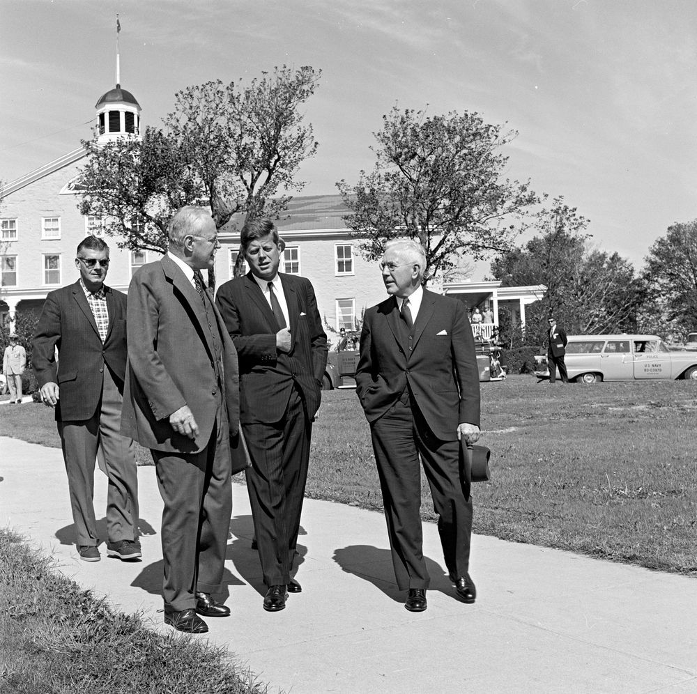 JFK with CIA Directors Allen Dulles and John McCone | Jfk, John f ...