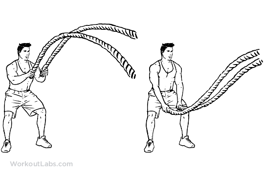Battle Rope Double Waves