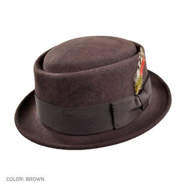 c9a5131e200 Jaxon Crushable Pork Pie Hat (Brown)  36.00 Pork Pie Hat