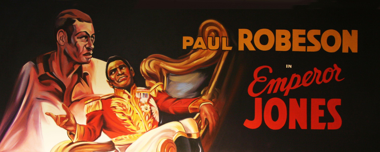Promotion for Jones starring Paul Robeson as Brutus Jones