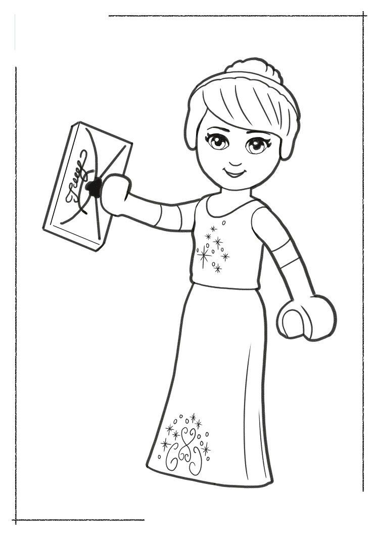 Lego Princess Coloring Pages Disney Princess Coloring Pages
