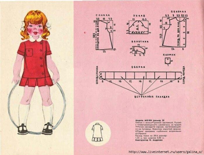 Выкройки платьев для девочек 4-5: 14 тыс