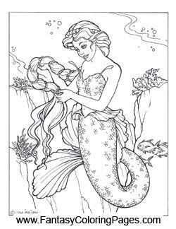 16 Beautiful Mermaids PDF Format And Sizeed For 85 X 11 Paper So They Are
