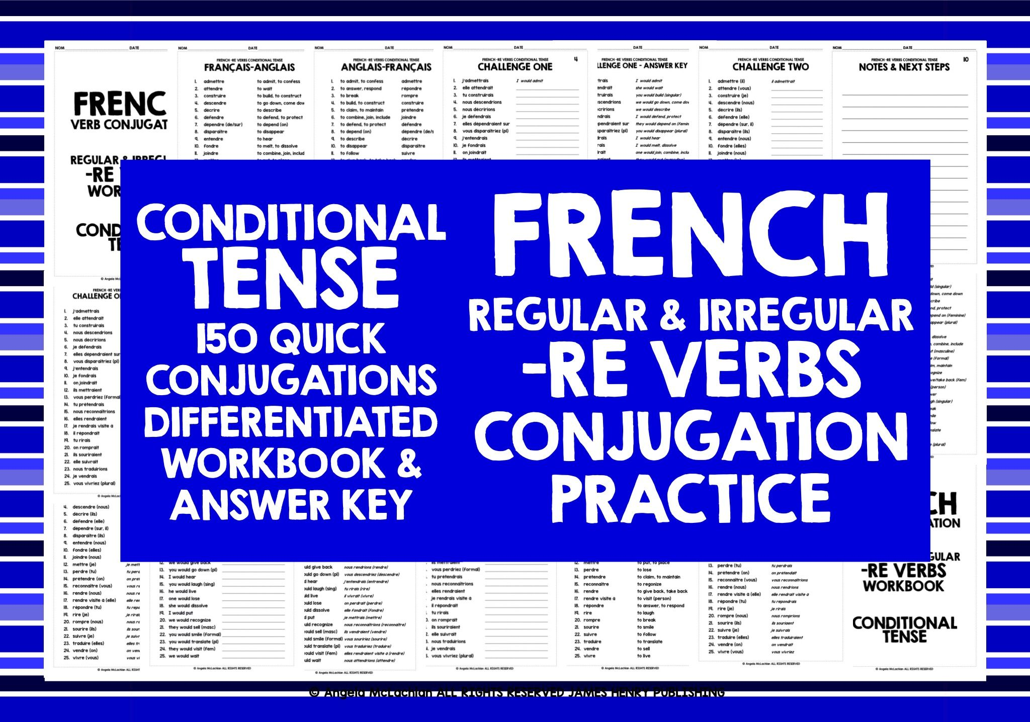 French Re Verbs Conditional Tense