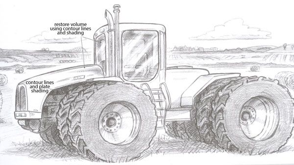 How to draw a tractor | john deere birthday | Pinterest