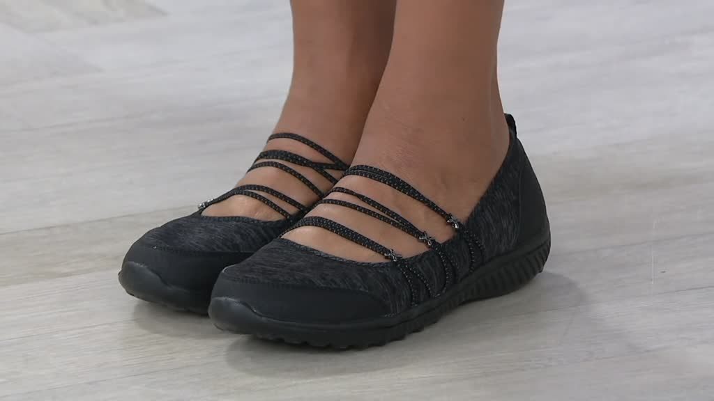 Skechers Heathered Bungee Strap Mary