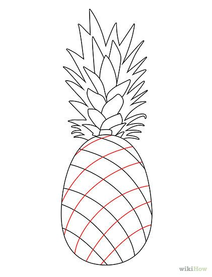 draw a pineapple pineapples pinterest drawings pineapple