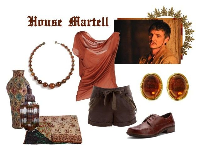 """House Martell"" by josislver ❤ liked on Polyvore featuring La Petite S*****, BCBGMAXAZRIA, Naot and Pier 1 Imports"