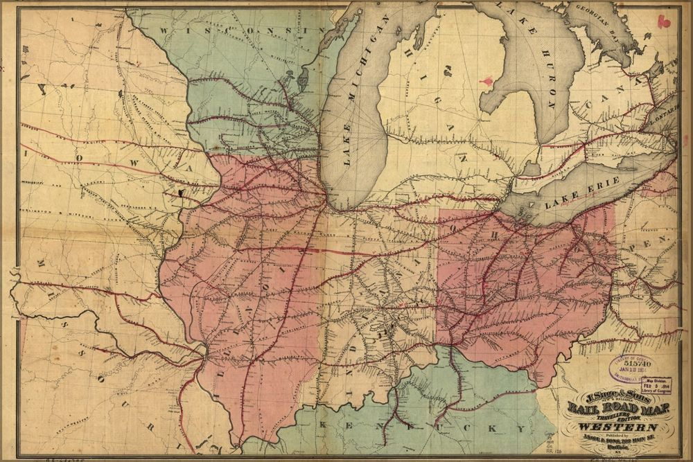 Details about Poster Many Sizes Railroad Map