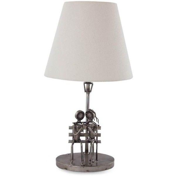 Novica Romantic Recycled Steel Table Lamp 87 Liked On Polyvore Featuring Home Lighting Table Lamps Home Decor Lamps A Rose Lamp Shade Lamp Steel Table
