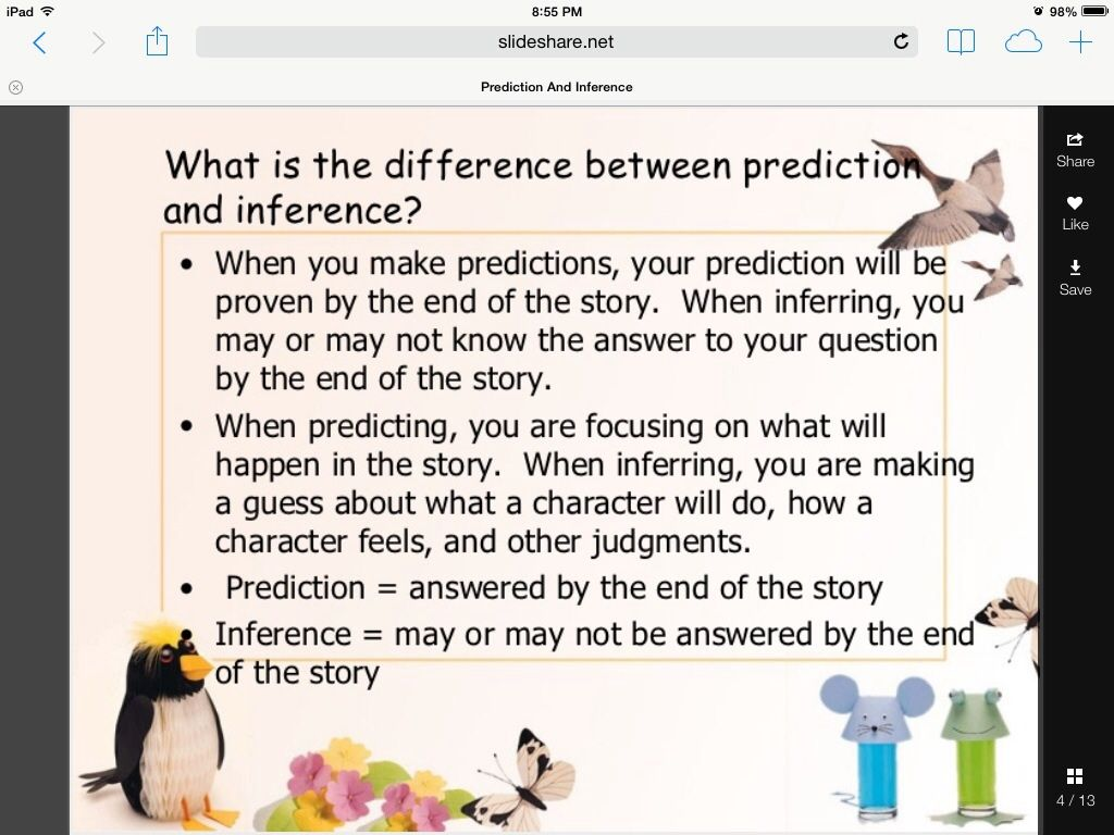 Distinguishing Between Predictions And Inferences