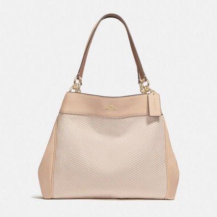 86a03f2268c2 Coach Lexy Milk  Beechwood Light Gold Leather Shoulder Bag - Tradesy