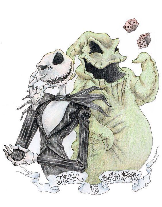 Jack Oogie Boogie Nightmare Before Christmas Tattoo Nightmare Before Christmas Drawings Tim Burton Art