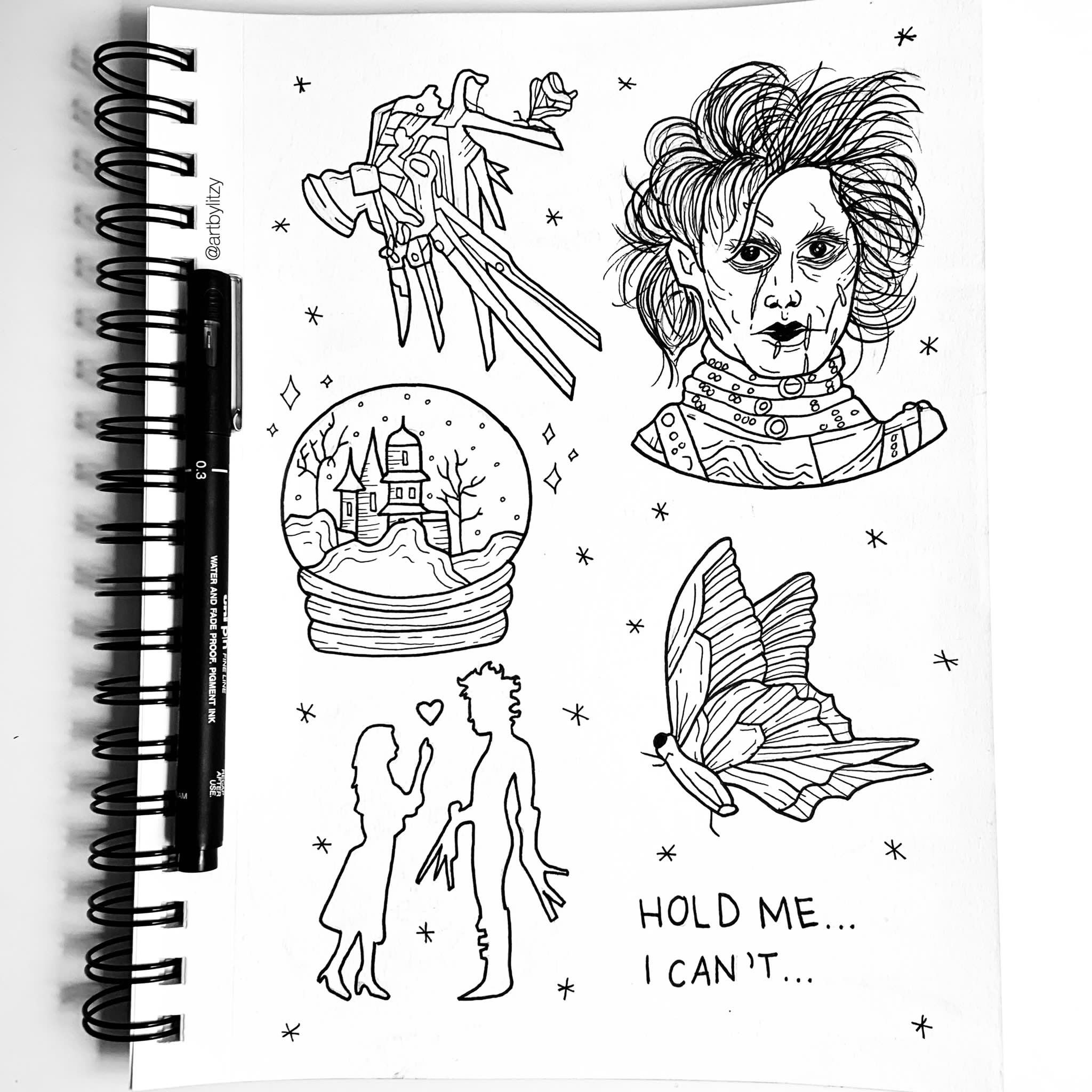Pin By Emma Bings On Ink With Images Edward Scissorhands