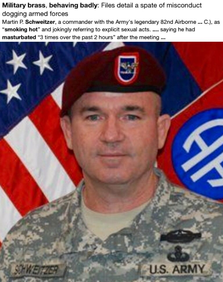 Martin P  Schweitzer Investigation: The commander with the Army's