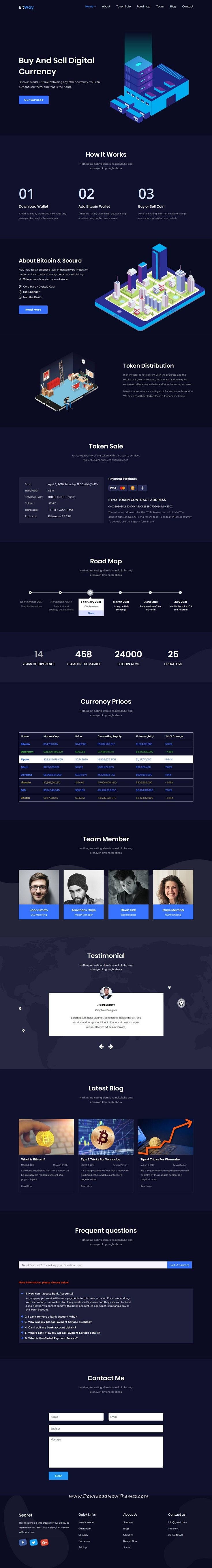 Bitway crypto currency html template pinterest template and