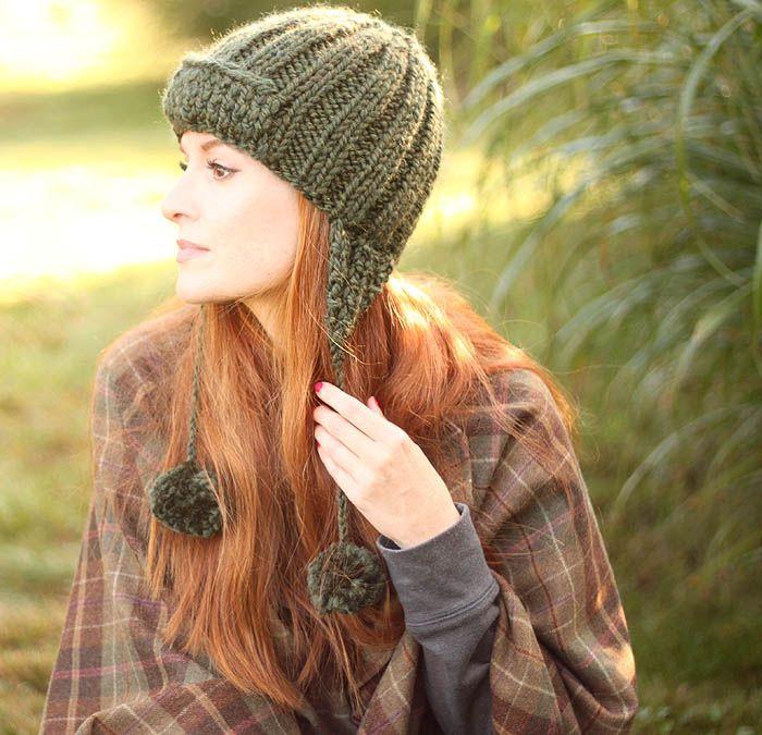 Trapper Hat Knitting Pattern | Gorros para dama, Tejidos de punto y ...