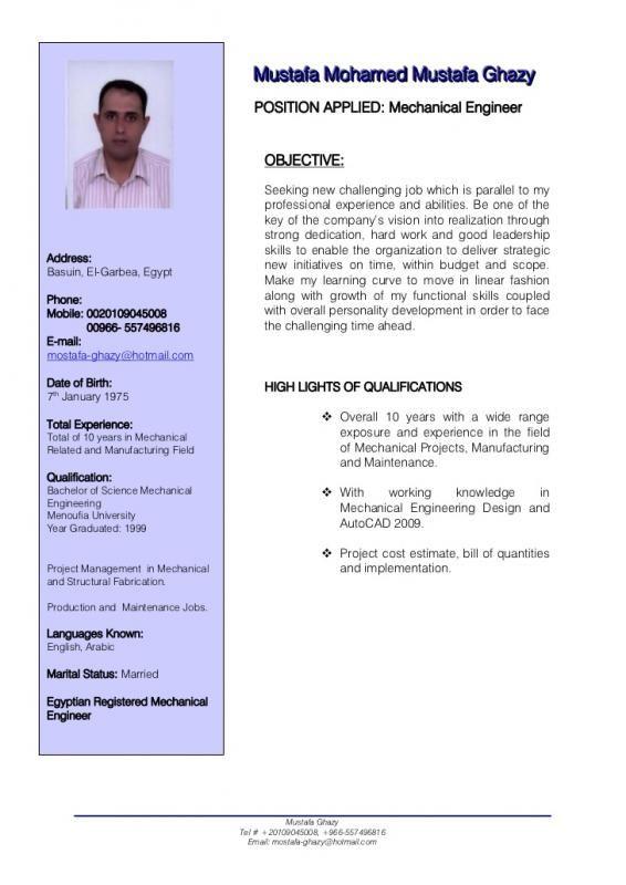 Mechanical Engineering Resumes template Pinterest Mechanical - mechanical engineering resume template