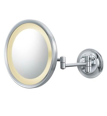 Aptations 944 35 75 Kimball Young Single Sided Led Round Magnified Makeup Lighted Wall Mirror Makeup Mirror With Lights