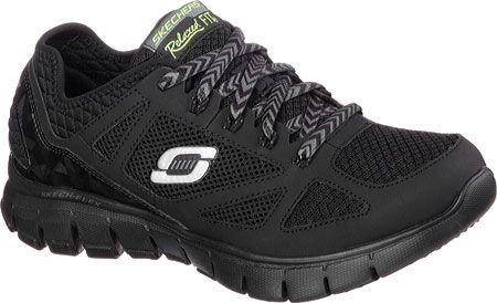 New! Women's Skechers 12128 Royal Forward Relaxed Fit Running Shoe - Black B3