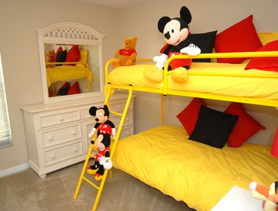 Mickey mouse kids bed bedroom decor ideas pinterest Mickey mouse bedroom ideas