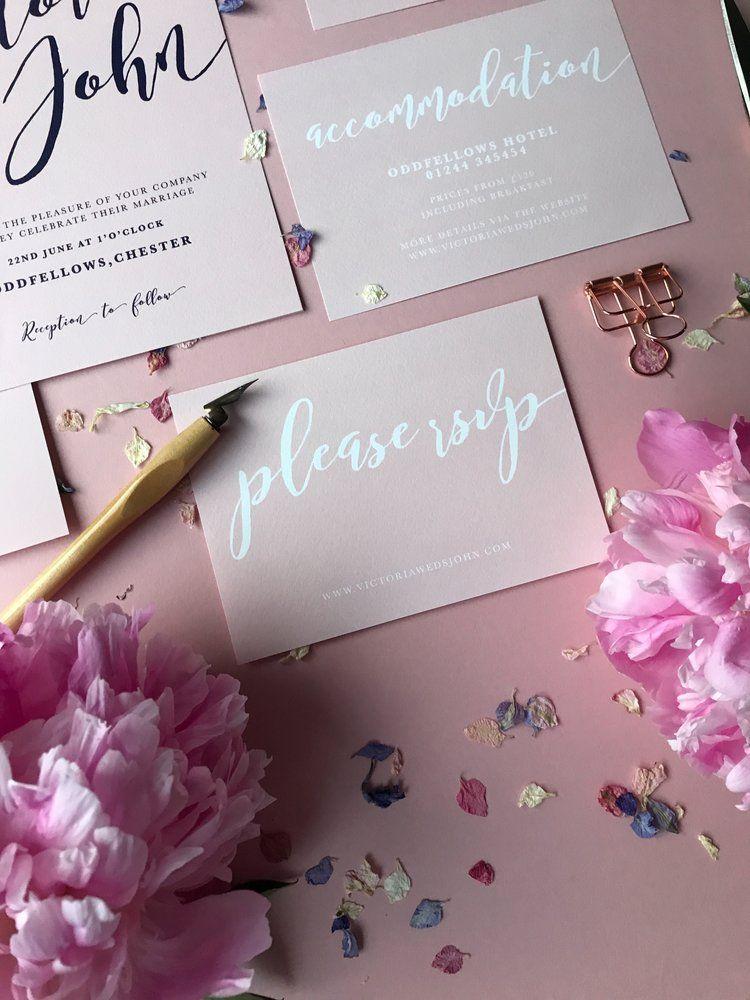PENELOPE Calligraphy wedding invitation, Calligraphy