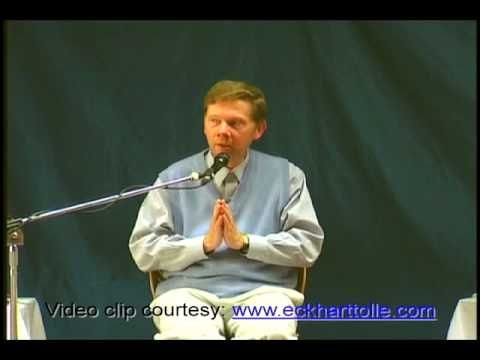 Eckhart talks about expressing emotions.