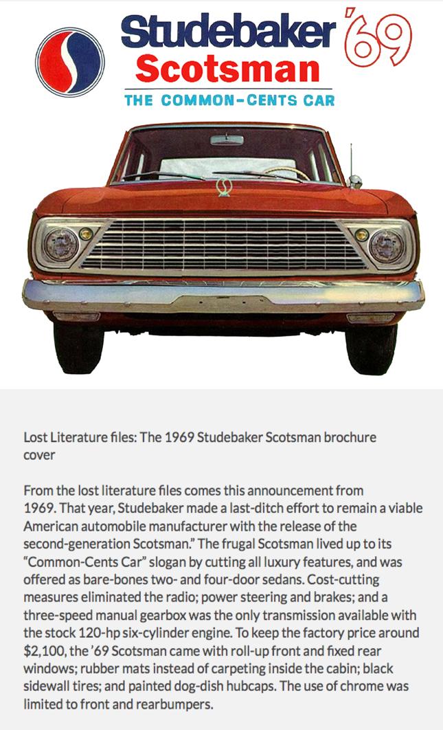 1969 Studebaker Scotsman Ad Car Advertising Studebaker Classic Cars Trucks