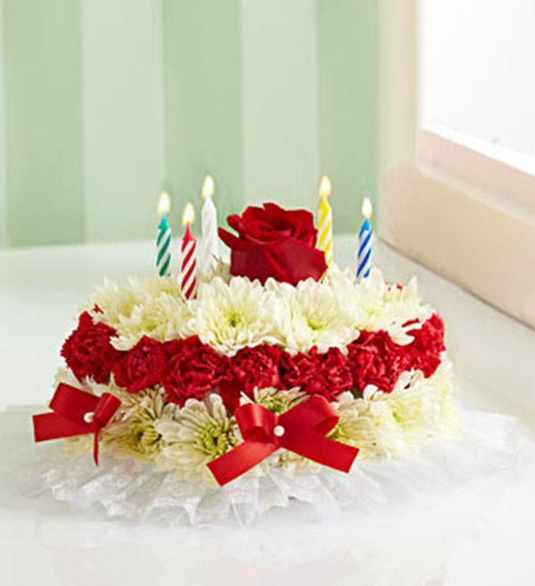 Birthday Ecards With Cake And Flowers ~ Birthday flower cake for birthdays pinterest beautiful cakes happy