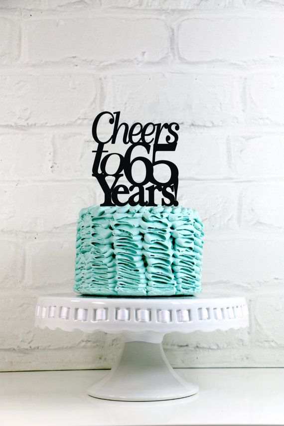 Cheers To 65 Years 65th Anniversary Or Birthday By WyaleDesigns More