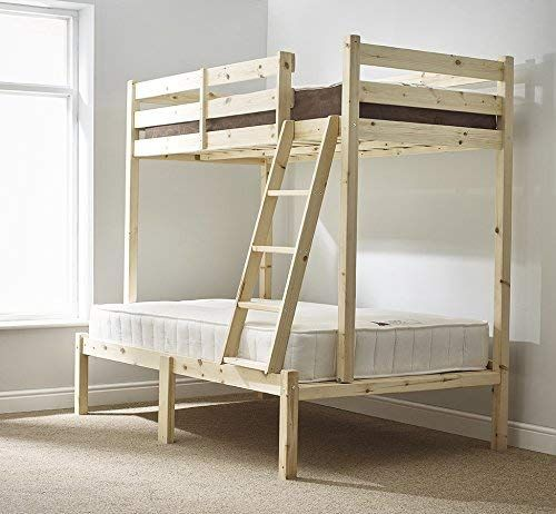 Best Three Sleeper Bunk Bed 4Ft 6 Double Triple Sleeper 400 x 300