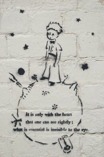 On Ne Voit Bien Qu Avec Le Coeur Saint Exupery My Favorite Saying One Of My Favorite Books The Little Prince On Ne Voit Bien Qu Avec Le Coeur L Graffiti Quotes Little Prince Quotes Illustration Quotes