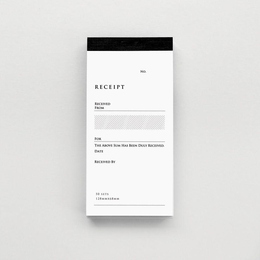 RECEIPT Form Design Editorial Stationary Identity Carte De Visite Cards