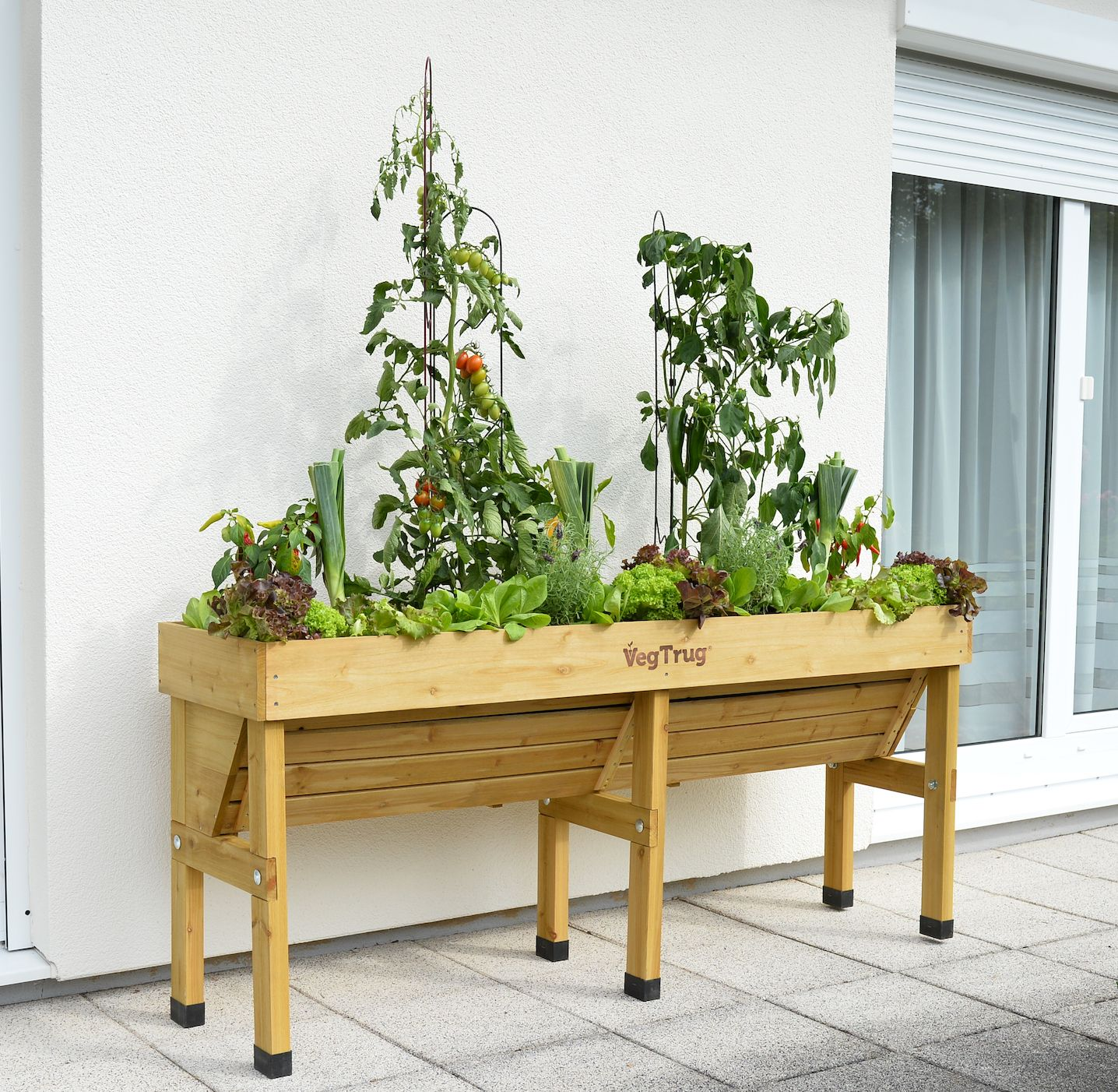 The Medium VegTrug Wall Hugger In Natural. For Those Small