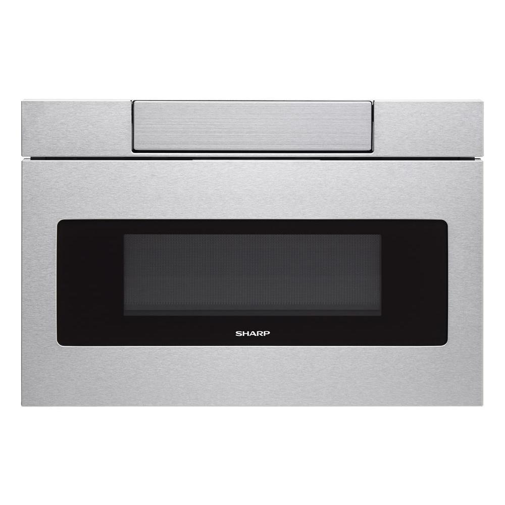 Sharp 30 In W 1 2 Cu Ft Built In Microwave Drawer With Easy Touch Control In Real Stainles Microwave Drawer Sharp Microwave Drawer Stainless Steel Microwave