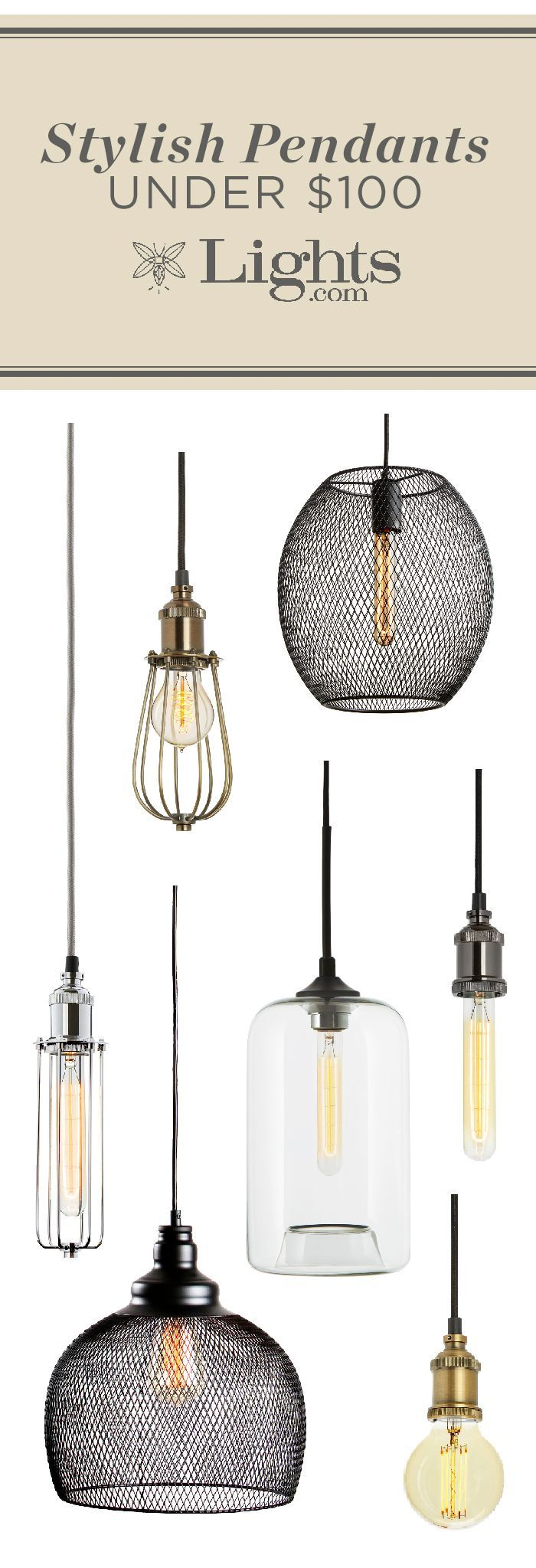 Industrial style pendants for your home--all under $100! | For my ...