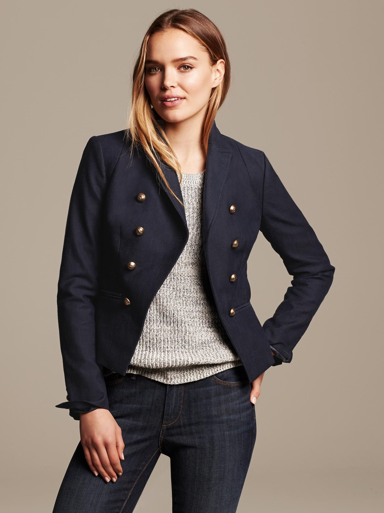 369c5cb1649f6 banana republic navy blue cutaway blazer | Clothing & Style ...